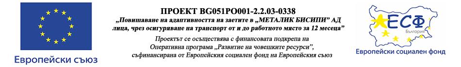 ПРОЕКТ BG051PO001-2.2.03-0338 - лого ЕС, наименование на проекта, лого ЕСФ